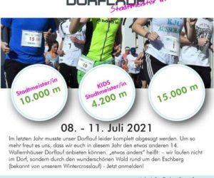 Wallernhäuser Dorflauf 8.-11.7.21…diesmal virtuell